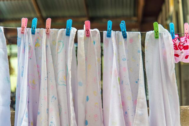 たくさんの布おむつ,布おむつ,使い方,