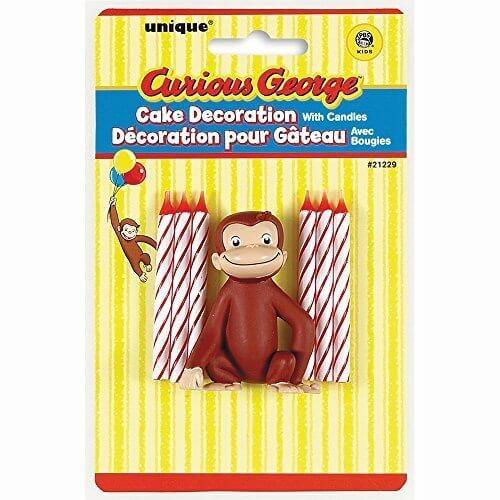 6キャンドルとおさるのジョージケーキデコレーション,おさるのジョージ,絵本,グッズ