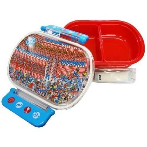 【 WALLY 】 ウォーリー をさがせ 食洗機対応 タイト ランチボックス 小判 360ml スケーター QA2BA,ウォーリー,絵本,グッズ