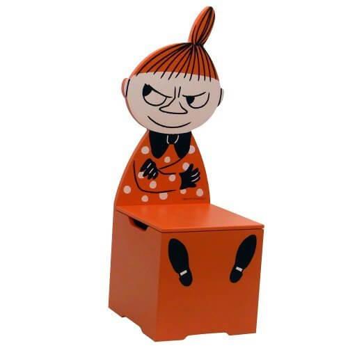 ミイ(ミィ・ミー) ムーミンシリーズ グッズが収納できるチェア・椅子(木製)(北欧雑貨/インテリア/こども用/キッズ用),ムーミン,本,