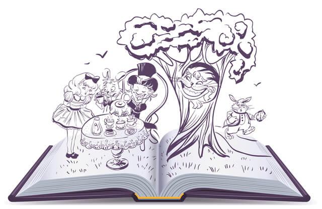 本から飛び出すアリス,ふしぎの国のアリス,絵本,