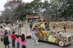 ふれあい動物パレード,東武動物公園,遊園地,