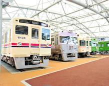京王れーるランドの車両展示,遊園地,東京,