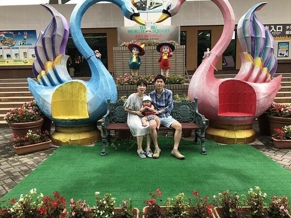 白鳥と親子,東武ワールドスクウェア,周辺,