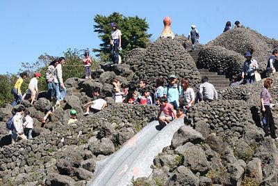 溶岩谷の遊び場,富士山こどもの国,キャンプ,