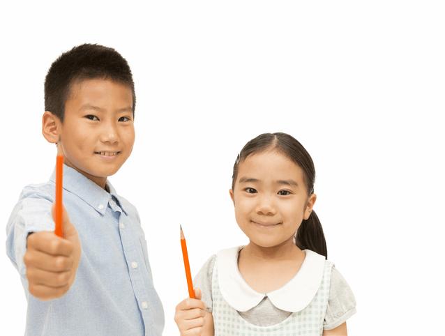 鉛筆を持つ男児女児,西武園ゆうえんち,プール,