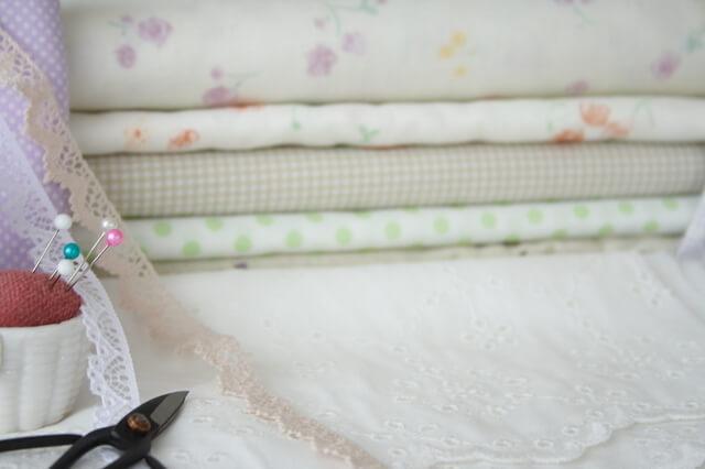 ガーゼ生地と裁縫セット,新生児,短肌着,