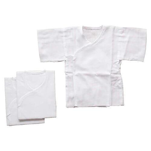 日本製 ホワイト無地 ガーゼ短肌着 3枚組セット 新生児用,新生児,短肌着,