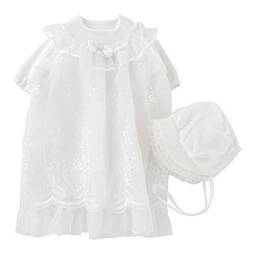ニシキ P5335 Pure white ピュアホワイト セレモニードレス3点セット 50cm ホワイト,ベビー,セレモニードレス,
