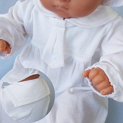 春秋物素材 セーラー風デザインのベビードレス2点セット!お宮参り退院時におすすめ!,ベビー,セレモニードレス,