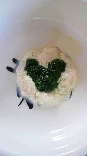離乳食初期☆小松菜と豆腐 ,離乳食,小松菜,