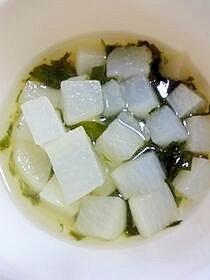 大根とわかめの味噌汁(離乳食後期) ,離乳食,わかめ,