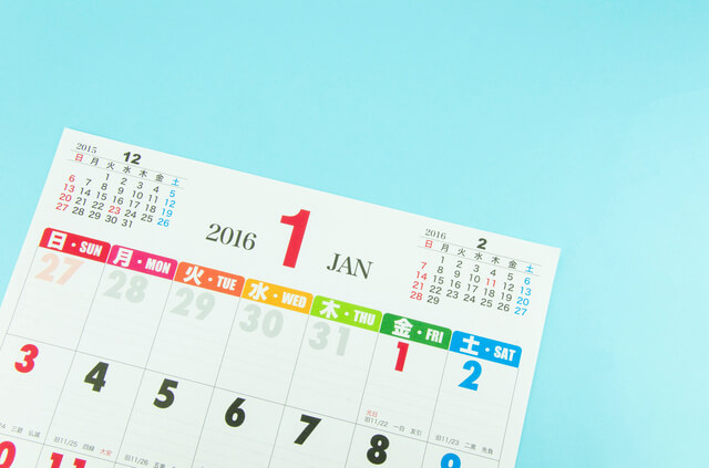 カレンダー,正月飾り,いつから,いつまで
