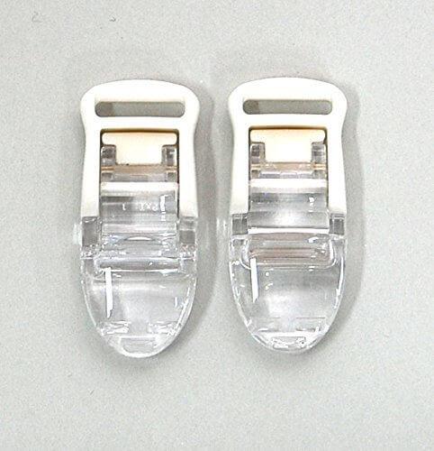 MEIWA 日本製 フィッシュクリップジャンボ 2個セット クリア,ベビーカークリップ,