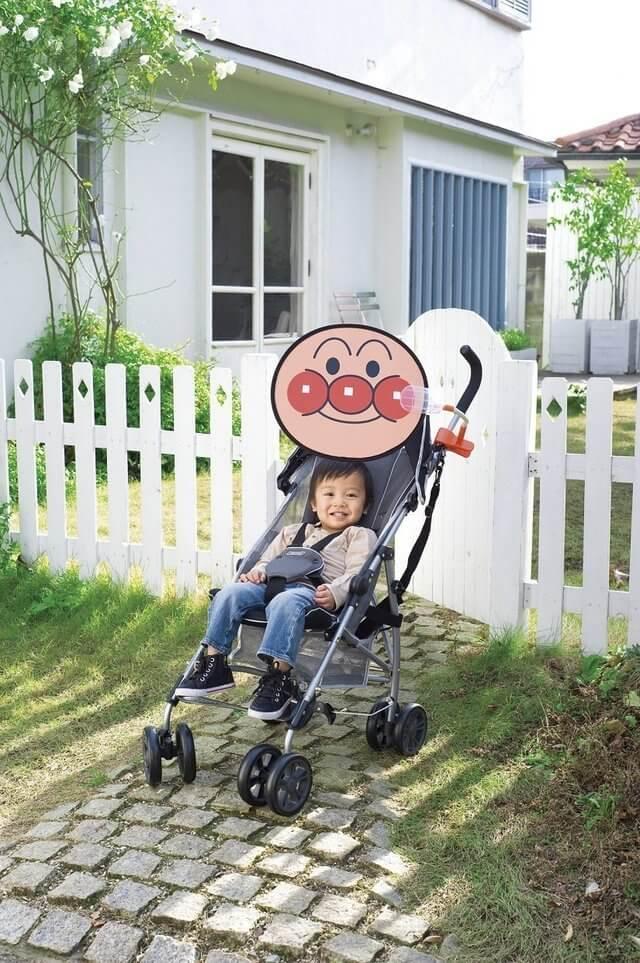アガツマ アンパンマン ベビーカー用コンパクト日よけ,ベビーカー,日よけ,
