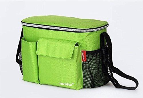 マザーズバッグ ベビーカーバッグ ショルダー 2way 取り付け簡単 持ち運び便利 保冷 バッグ 多機能 収納 小物入れ (グリーン),ベビーカー,バッグ,