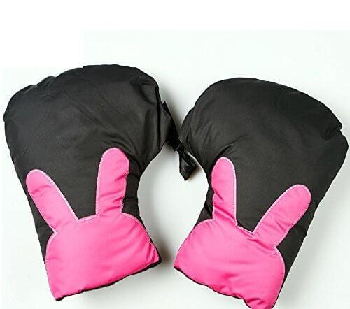 GOOACC バイクハンドルカバー 女性用 防寒用バイクグローブ 冬用手袋 おしゃれ・カッコイイ手袋 (ブラック),自転車,アクセサリー,