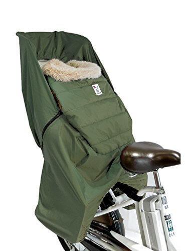 [レイコム]reicom 【後ろ用】あったかプラス!子供乗せ自転車 防寒フットマフ3way/カーキ,自転車,防寒,