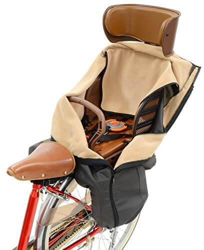 OGK技研 うしろ子供のせ用ブランケット BKR-001 チャコール,自転車,防寒,