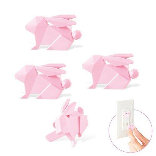 エレコム コンセントキャップ カバー ホコリ防止 いたずらによる感電防止 引っ張っても簡単に抜けない安全設計 ウサギ ピンク T-CAPKAKU2,コンセントキャップ,