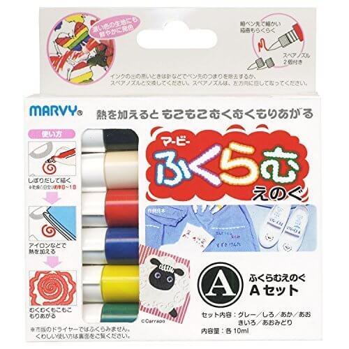 マービー ふくらむえのぐ 6色Aセット,手作り,カード,
