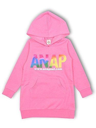 (アナップキッズ) ANAP KIDS グラデーションフロッキーロゴワンピース 90cm ピンク,子供服,ブランド,女の子
