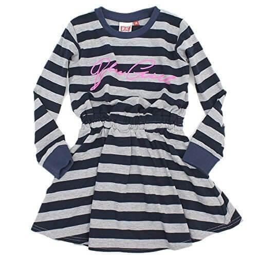 BLOC リブキリカエボーダーワンピース ネイビー 140,子供服,ブランド,女の子