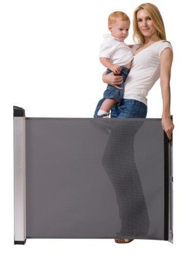 ラスカル キディガード 階段上設置可能 ロール式 ゲート バリアフリー フリーサイズ アヴァント ブラック,ベビーゲート,