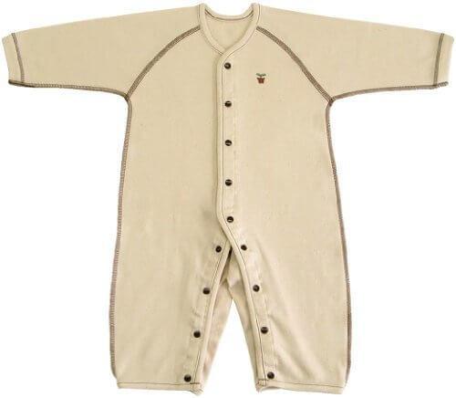 オーガニックコットン スムース 長袖前開きカバーオール肌着 70cm NO20612 日本製,オーガニックコットン,新生児,肌着