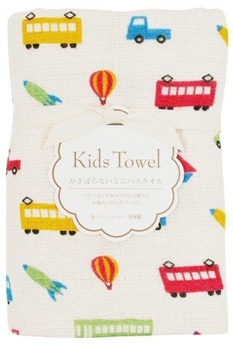 calmland バスタオル かさばらないミニバスタオル ガーゼ のりもの 47×100cm,赤ちゃん,ガーゼ,