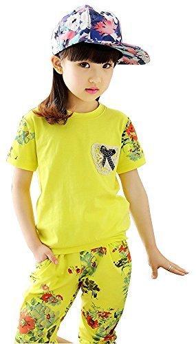 95b10d07a6ce9 (ウイ カプア) u i Kapua 花柄 切り替え ジャージ セットアップ スウェット 半袖 女の子