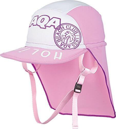 AQA(エーキューエー) スイムキャップ 子供用 UVカット 帽子 UVドライフラップキャップキッズ KW-4468A ピンク×ホワイト(56) M,子ども,帽子,