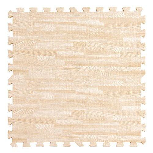 タンスのゲン 6畳用 32枚組 木目調ジョイントマット 大判 60cm 床暖房対応 ノンホルムアルデヒド サイドパーツ付き ホワイト AM 000069 WH,ジョイントマット ,おしゃれ,