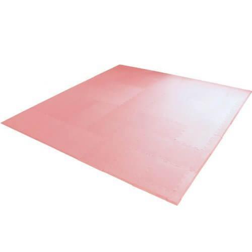 エムール EVAマット 81枚セット 225×225cm 約4.5畳 極厚タイプ 単色ピンク,ジョイントマット ,おしゃれ,