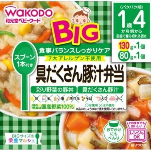 和光堂 BIGサイズの栄養マルシェ 具だくさん豚汁弁当 130g+80g,和光堂 【BIGサイズの栄養マルシェ 】具だくさん豚汁弁当 130g+80g,