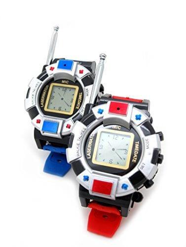 LeaningTech TWO WAYラジオ ウォッチ型 子供用トランシーバー 腕時計としても使える おもちゃ 007などの遊びに最適 2台セット(赤Xブルー),おもちゃ,トランシーバー,