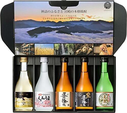 神楽酒造 KAG300-5A(長期貯蔵くろうま 麦 25度、くろうま 麦 25度、天孫降臨 芋 25度、黒麹天孫降臨 芋 25度、天照 そば 25度) 飲み比べセット 300ml×5本,お酒,おすすめ,