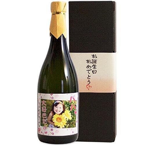 写真入りオリジナルラベルのお酒 720ml (日本酒・焼酎から選択) (麦焼酎) 平成28年度優等賞受賞 贈り物 ギフト 誕生日,お酒,おすすめ,