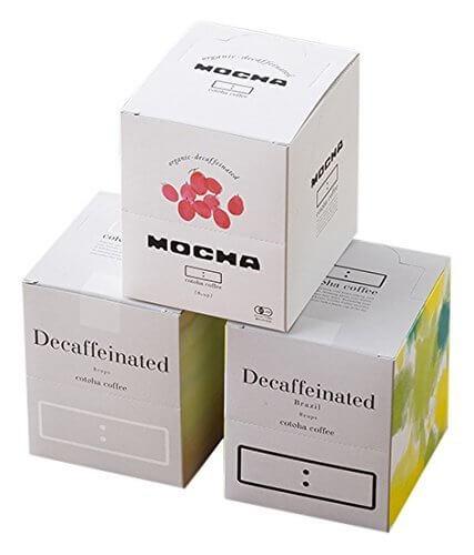 カフェインレス ドリップバッグ 10g 8バッグ入りBOX (モカ ・ コロンビア ・ ブラジル)×3箱,内祝い,コーヒー,