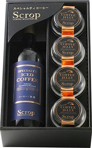 ScropギフトセットSG-C2(瓶入りアイスコーヒー1本、コーヒーゼリー4個),内祝い,コーヒー,