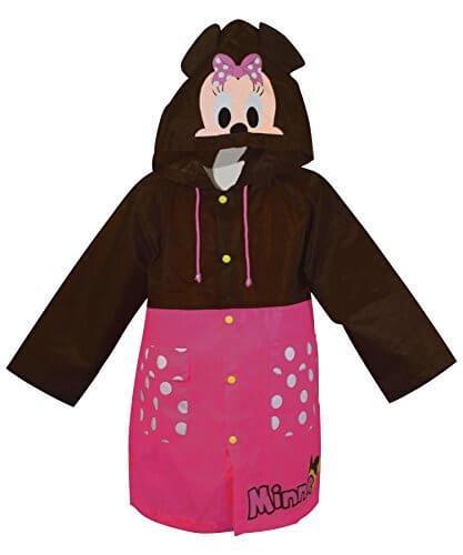 ディズニー 子供用 キャラクター耳付きコート レインコート ミニー フリー 130~150cm 収納袋付き SBC040 [正規代理店品],子供,レインコート,