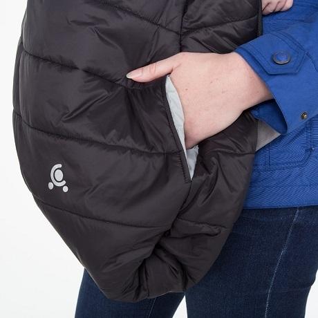 ポケット付きコンフィケープ,赤ちゃん,防寒,