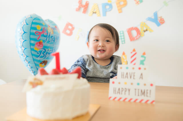 1歳のお誕生日,1歳誕生日,飾り付け,