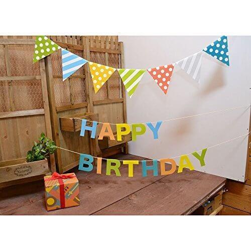 ペーパーフラッグガーランド セット(キューティMIX),1歳誕生日,飾り付け,