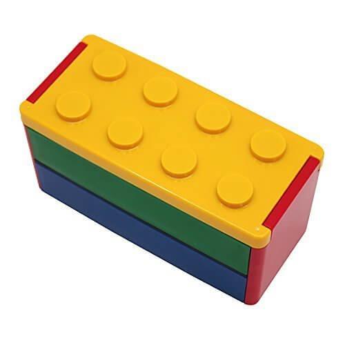 ロック式ブロック2段弁当箱 (YE) 660ml 日本製 PN-2256,お弁当,小学生,
