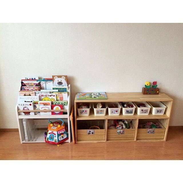 おもちゃ収納の一例,おもちゃ,収納,100均