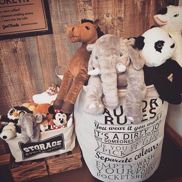 布収納ケース使用例,おもちゃ,収納,100均