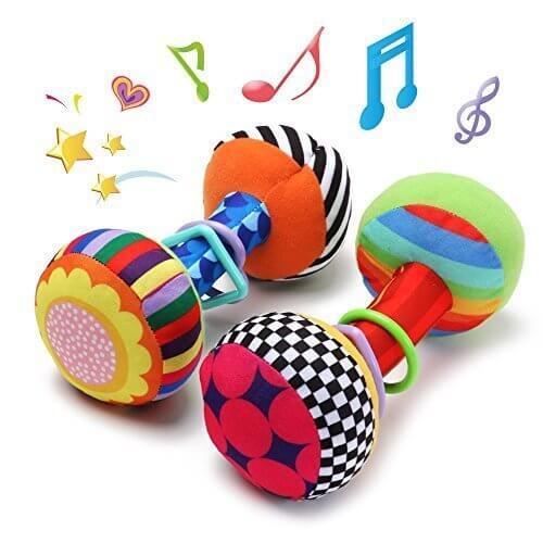 Wishtime 初めての布のおもちゃ ベビー キッズ ダンベル ラトル 音が鳴る 知育 遊具 玩具 振ってカラカラ,おもちゃ,赤ちゃん,