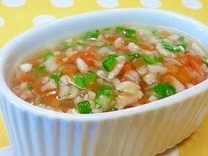 【離乳食】鶏ミンチ&れんこんのとろみ煮,離乳食,オクラ,
