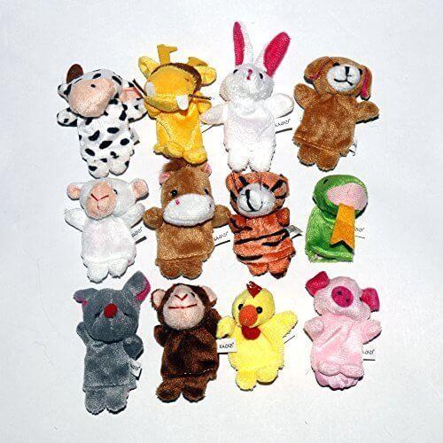 知能・五感 を育てる 指人形 12支セット 布製 知育玩具 フィンガー パペット,知育玩具,0歳,